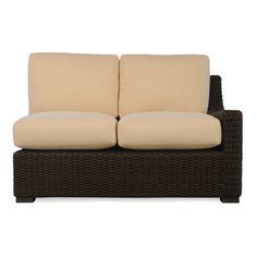Lloyd Flanders Mesa Loveseat with Cushions Fabric: Fife Vellum, Sunbrella