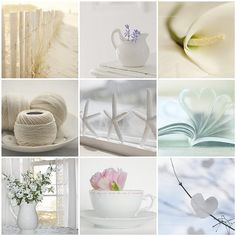 Soothing whites and creams...