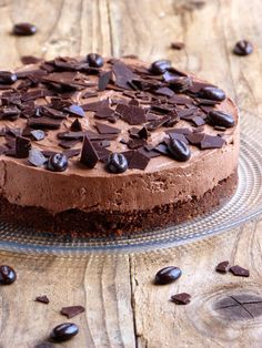 Chocolate cheesecake {no baking and no gelatin} - Garrard Sewter Pumpkin Pecan Cheesecake, Chocolate Cheesecake, Chocolate Desserts, Cake Chocolate, Cheesecake Recipes, Dessert Recipes, Easy Pasta Salad Recipe, Raspberry Recipes, Gelatine