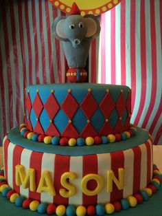Circus theme birthday cake, Sugarnomics Cake Studio Guam