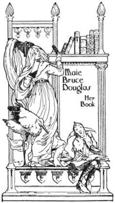 Book-plate of Maie Bruce Douglas