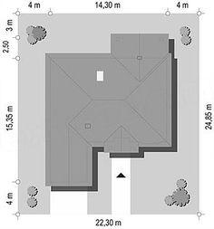 Usytuowanie projektu Dom na Parkowej 2 na działce Small Villa, Floor Plans, Diagram, Home Decor, Decoration Home, Room Decor, Home Interior Design, Floor Plan Drawing, Home Decoration