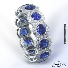 JB Star sapphire and Diamond Eternity Band.  Available at Alson Jewelers. | VIA #WEDDINGPINS.NET