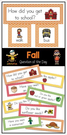 Fall question of the day set - perfect for attendance and graphing for preschool, kindergarten, and first grade