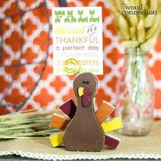 The Wood Connection - Turkey Place Card Holder