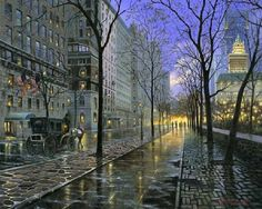 Sergei Yaralov - Fifth Avenue, New York New Amsterdam, Brooklyn Nyc, I Love Ny, City That Never Sleeps, City Art, In This World, Places To See, New York City, Yorkie