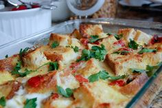 roasted red pepper strata!!!