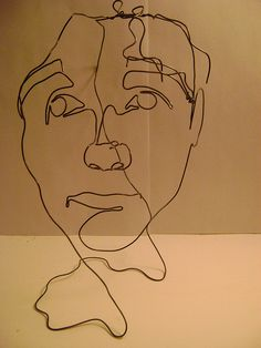 This is the blind contour look I was talking about when we discussed style of art.