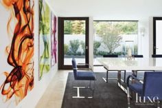 White Brick Modern Dining Room   Modern > Dining Rooms   LUXE Source