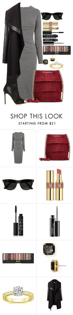 """""""Untitled #1347"""" by fabianarveloc on Polyvore featuring Whistles, Burberry, Ray-Ban, Yves Saint Laurent, NARS Cosmetics, MAC Cosmetics, Kate Spade, Helmut Lang, Gianvito Rossi and women's clothing"""