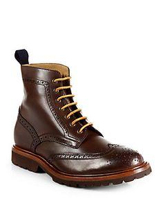 Brunello Cucinelli Brogue Wingtip Boots