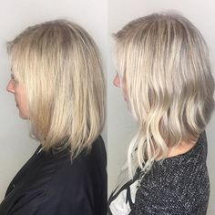 The difference a few extensions can make! #lob #hair #extensions #thick #thicker #thickerhair  #volumeextensions @salonentrenous @greatlengths