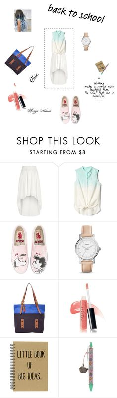 """""""Back To School"""" by anggi-ninna on Polyvore featuring River Island, Gap, Vans, FOSSIL, Avon and Pusheen"""