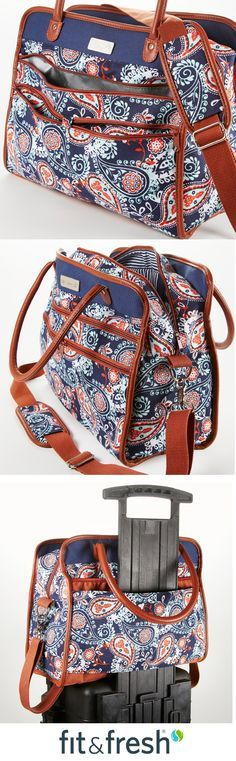 Fit & Fresh Travel Bags Offer Style for Miles! Functional totes, duffels, and overnight bags all offer great organization and are perfect for commuting, travel, and every day!