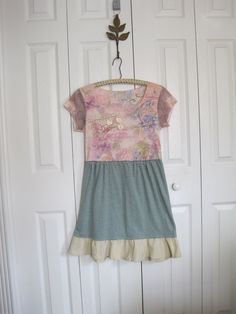 Boho romantic dress Mini dress boho gypsy dress by ShabyVintage, $41.90