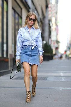 That wrapped waist is A . #refinery29 http://www.refinery29.com/2016/10/124228/blue-and-white-stripes-fashion-trend#slide-4