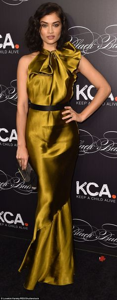 Sizzling: On Wednesday, Shanina Shaik stunned on the red carpet at the Keep A Child Alive'...