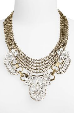 Free shipping and returns on BP. Crystal Mesh Statement Necklace (Juniors) at Nordstrom.com. Faceted jewels and chunky chains define an eye-catching goldtone statement necklace.