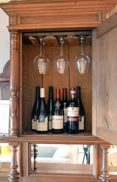 Be ready for Christmas and New Years entertaining with a DIY installed custom wine glass rack | Storypiece.net
