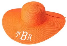 Mongrammed Orange Sunhat