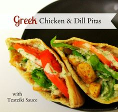 Greek Chicken & Dill Pitas
