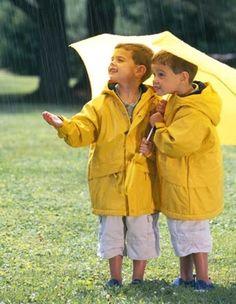 yellow raincoats