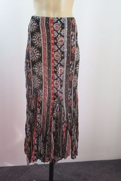 Size L 14 Flower Ladies Maxi Skirt Cocktail Business Boho Chic Office Paisley  #Flower #StraightPencil