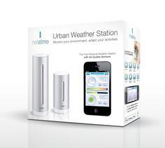 Netatmo Funk-Wetterstation NSWS01-EC Urban Weather Station mit App. Die Wetterstation für Smartphone, iPhone und iPad.
