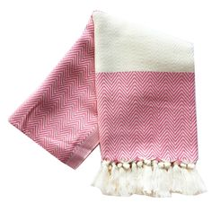 Chevron Turkish Towel : Pink