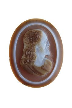 Cameo with the head of Christ: 16th - 17th century http://www.museumoflondonimages.com  the Cheapside Hoard