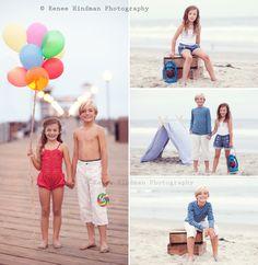 Rene Hindman Photography.  Brilliant beach photography idea.