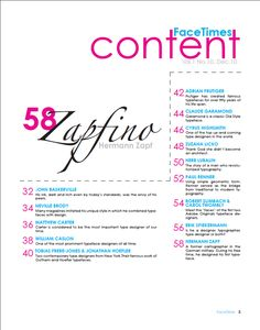 FaceTimes Table of Content by Bich Nguyen,