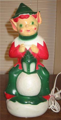 Empire Plastic Blow Mold ~ Elf w/ Lantern ©1970