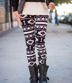 Black & White Aztec Leggings