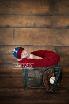 Crochet Baby Baseball Cap and Diaper Set in Texas Rangers inspired. $45.50, via Etsy.