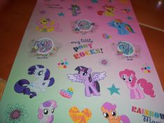 Large Sheet of My Little Pony Stickers