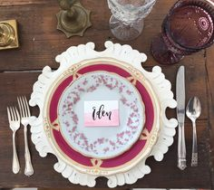 Vintage Wedding China for The White Sparrow Barn by Dixie Does Vintage Rentals @DixiDoesVintage