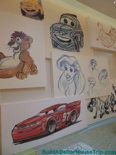 Disney's Art of Animation Resort lobby mural. Disney Value Resorts, Disney World Resorts, Disney Mural, Disney Drawings, Drawing Disney, Disney Art Of Animation, Best Mouse, Disney Paintings, Disney Concept Art