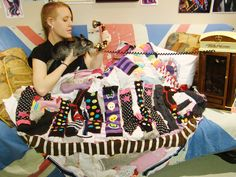 #Item118 Make a cozy quilt from old dirty socks. Snuggle up in it alone or with your best friend.