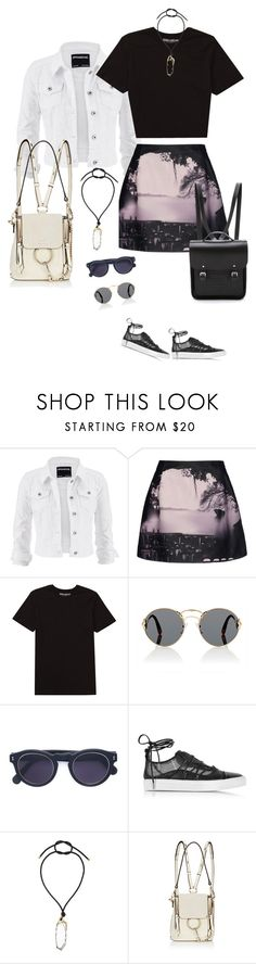 """Untitled #1119"" by clothes-wise ❤ liked on Polyvore featuring maurices, Mary Katrantzou, Billabong, Prada, Illesteva, Dsquared2, Lanvin, Chloé and The Cambridge Satchel Company"