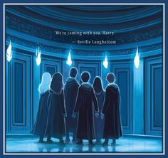 """We're loving the new back cover for HarryPotter and the Order of the Phoenix with art by Kazu Kibuishi!  """"We're coming with you, Harry."""" -- Neville Longbottom"""