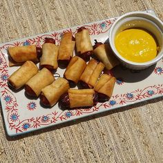 Low carb Pigs in a Blanket. Hillshire Farms smokies wrapped in Mission low carb tortilla strips. Sealed with a brush of egg wash and fried in coconut oil. All of these  plus 2 that were eaten  was made with one 6 net carb tortilla. #pigsinablanket #lowcarbpigsinablanket #lchf #lowcarbsnacks #lowcarb #keto #ketogenic #ketodiet #atkins #atkinsdiet by buttercup.low_carb