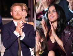 Prince Harry and Meghan Markle, sitting apart, at the 2017 Invictus Games.