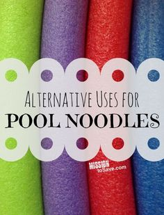 Get creative with DIY Alternative Uses for Pool Noodles! No water required for these fun games and craft ideas.  All from an inexpensive pool noodle!