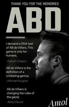 Never forget ABD favourite cricketer are MSD and ABD. Cricket Tips, Cricket Quotes, Cricket Videos, Cricket Sport, T20 Cricket, Ab De Villiers Ipl, Ab De Villiers Photo, History Of Cricket, Dhoni Quotes