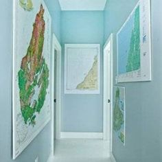 Small Hallway Decorating Ideas With World Maps  Great Small Hallway Decorating Ideas In Home Design & Download Inspirational End Of Hallway Decorating Ideas Simple End Of ...