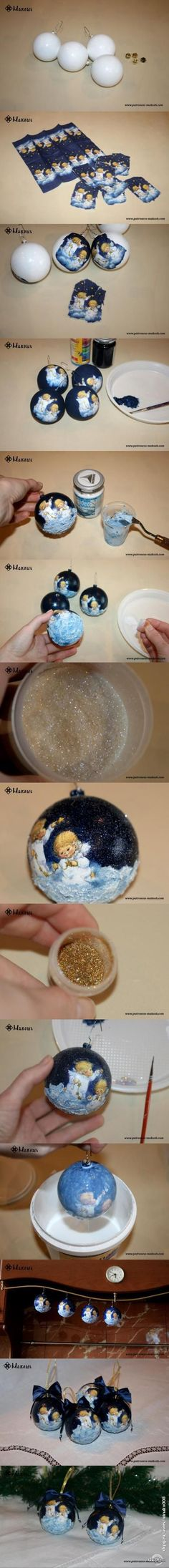 "Christmas balls ""Get the star from the sky.�"
