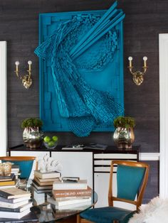 Designers Jennifer Reiner and Robert White created a luxe living space using high-energy hues and a mix of custom and do-it-yourself touches.