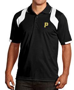 Pittsburgh Pirates Antigua Golf Shirt MED Fusion Polo Black White NWT  65R  MLB  Antigua 94cfe665d