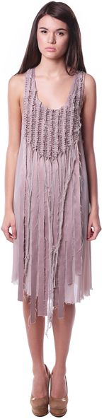 Необычное короткое платье